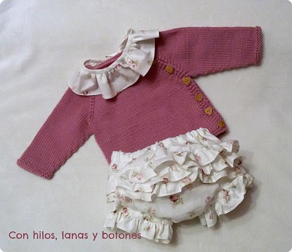 Con hilos, lanas y botones: Puerperium rosas y corazones