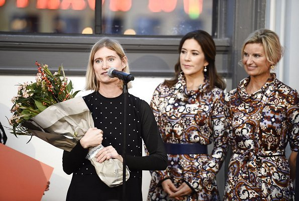 Crown Princess Mary and Danish fashion designer Lærke Andersen Danish designer Britt Sisseck olga dress