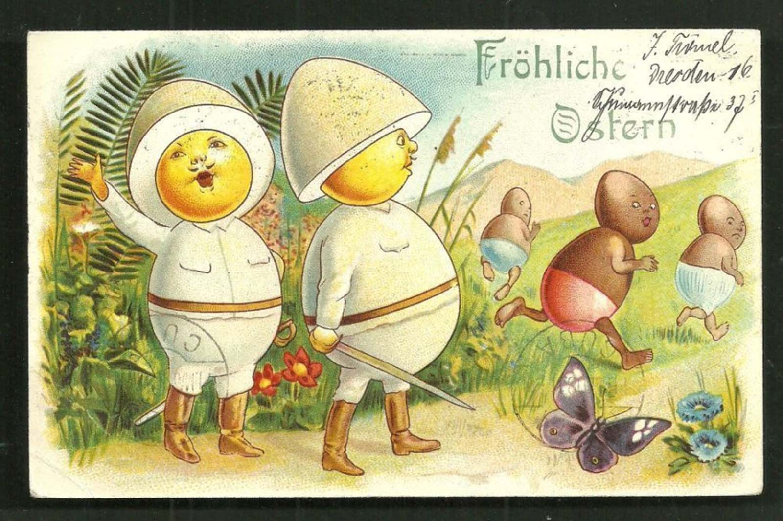 """Happy Easter from the German colonies""."