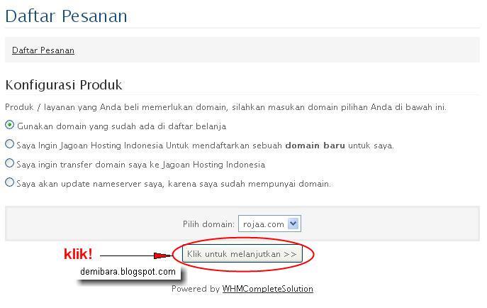 Cara Hosting Website Untuk Toko Online - Konfigurasi Produk