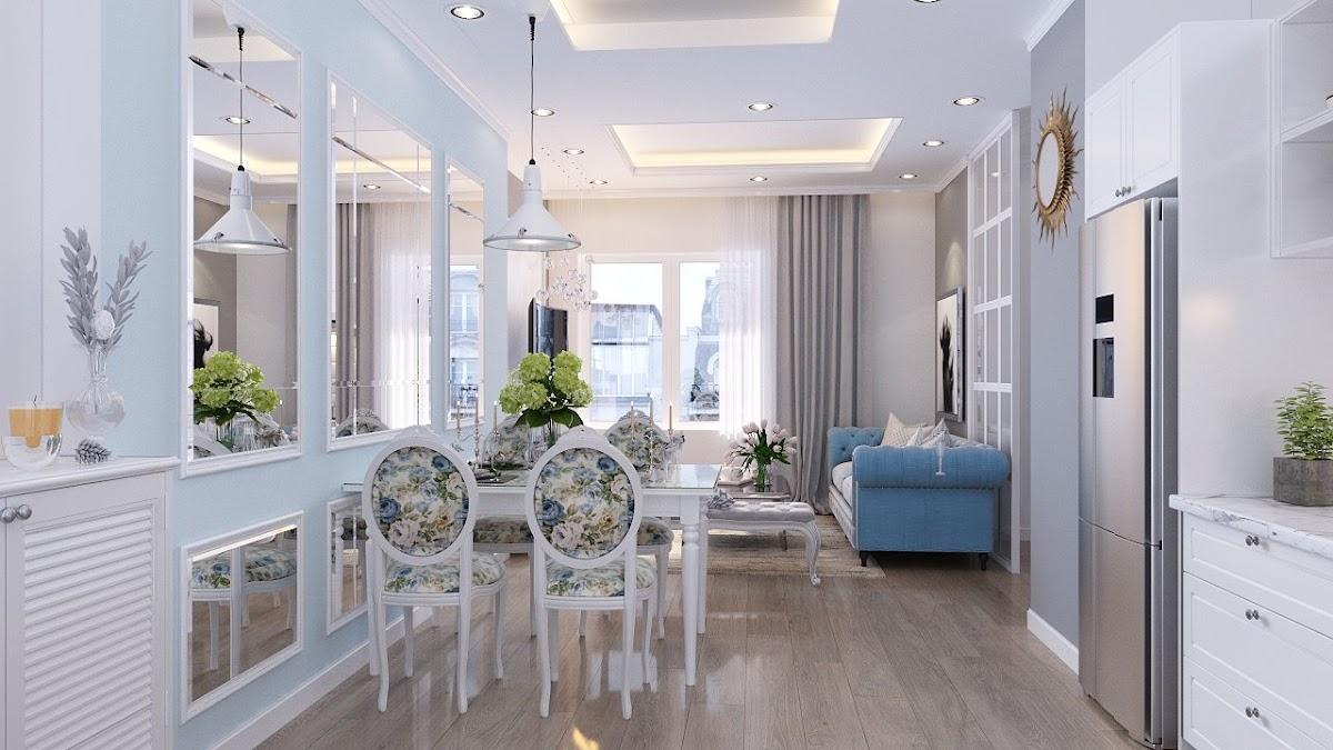 Phòng khách với kính cách nhiệt và chống ồn. Đem lại cuộc sống yên tĩnh cho không gian của gia đình