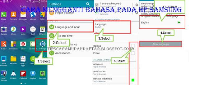 Cara Mengganti Bahasa Pada HP Samsung