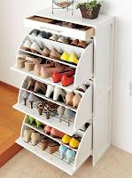 ideas para organizar el calzado mueble