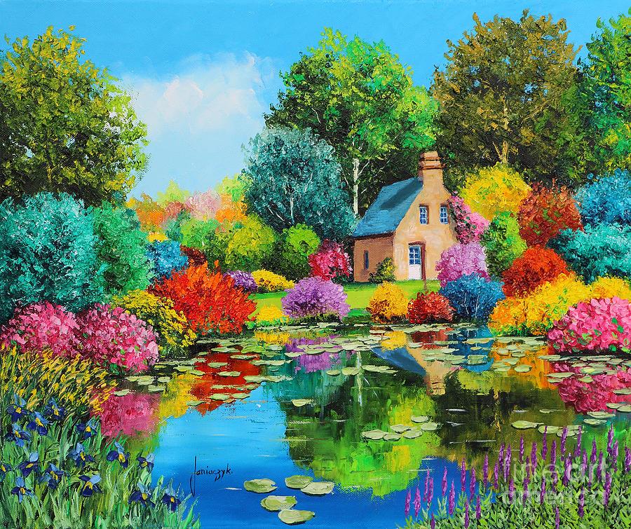 Lagoa Florescendo - Cores alegres e vibrantes nas paisagens de Jean-Marc