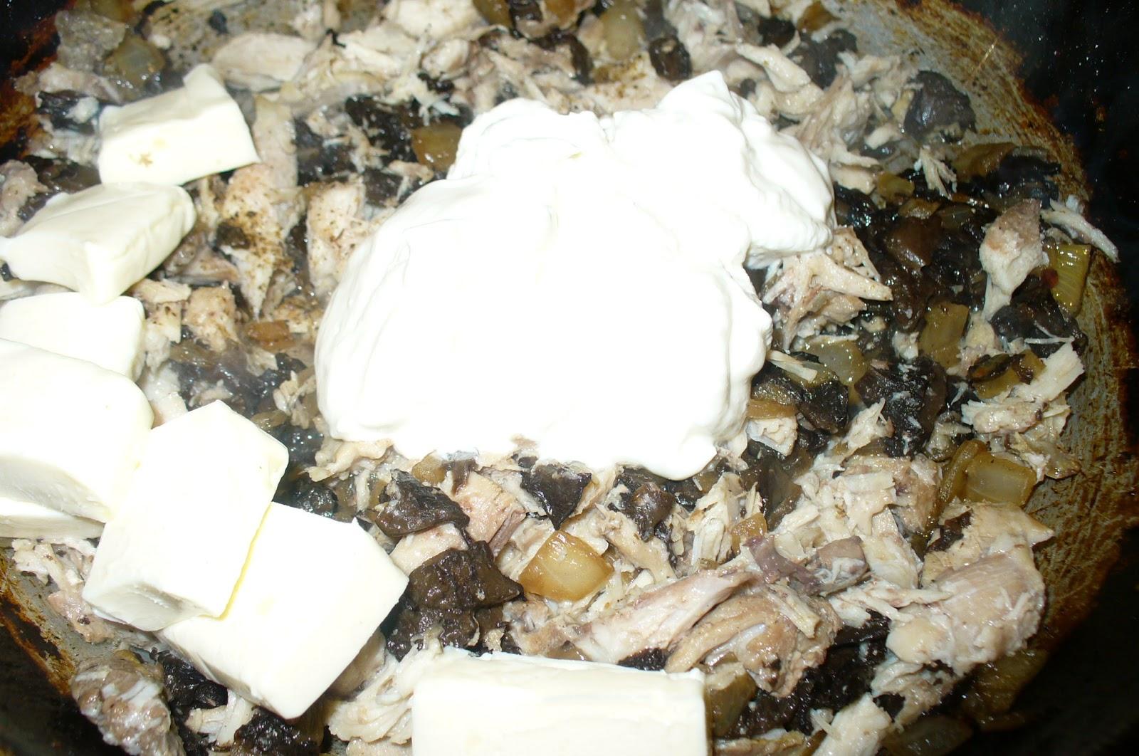 начинка для блинчиков с курицей и грибами