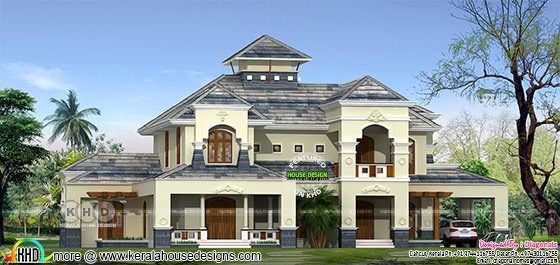 386 square meter luxury Colonial home plan