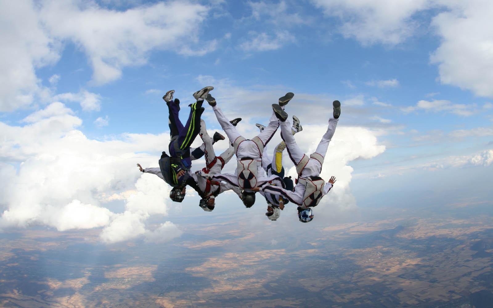 Skydiving parachute hd