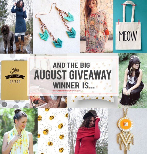 The Bubby and Bean Big August Giveaway Winner