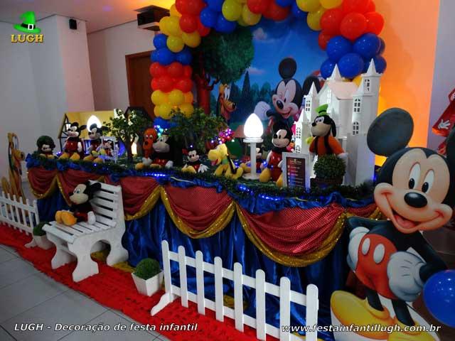 Mesa temática Mickey luxo - Festa infantil de 1 ano