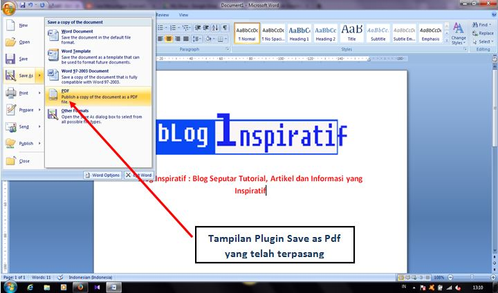 Cara mengconvert file word ke pdf part02