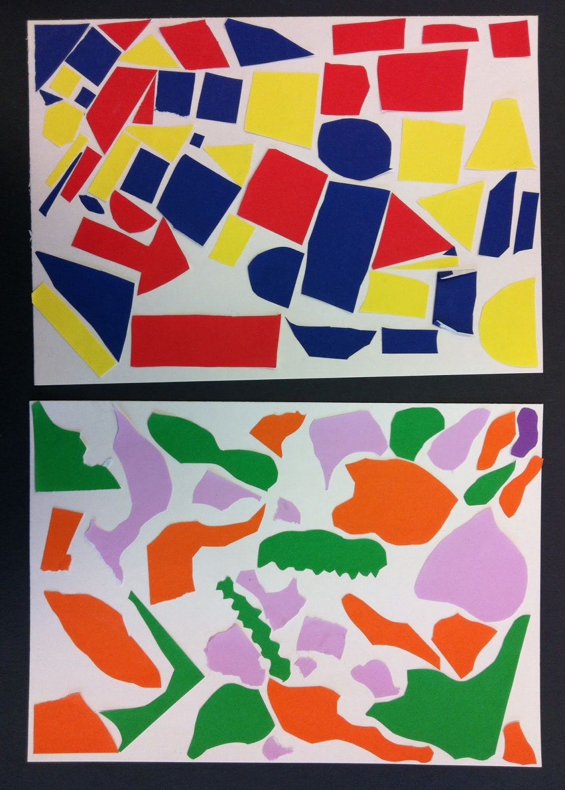 Art Room 104 2nd Grade Shape Collages