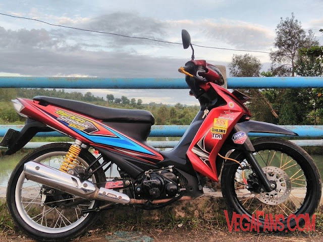 Modifikasi Vega RR Merah Modif Road Race