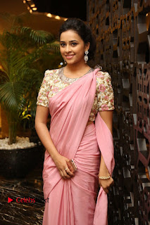 Actress Sri Divya Stills in Saree at Rayudu Movie Audio Launch 0079
