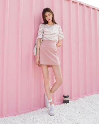 outfit rosa moda coreana tumblr