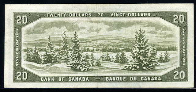 Canadian money currency banknote collecting, Laurentian Mountains Quebec