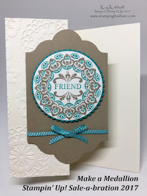 Make a Medallion with New Sale-a-bration Items by Stampin' Up! Kay Kalthoff is Stamping to Share!