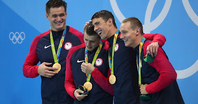 http://www.usatoday.com/story/sports/olympics/rio-2016/2016/08/07/michael-phelps-nathan-adrian-swimming-mens-4x100m-freestyle-final-result/88379366/