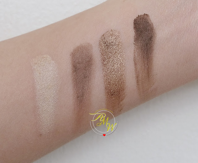 a swatch photo of Pink Sugar Eye Candy Eye Shadow Quad in Cafe Latte review and look by Nikki Tiu Askmewhats