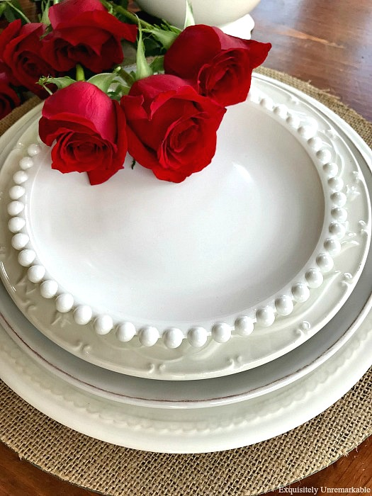 White Pottery Barn Dishes