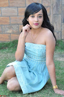Sahana New cute Telugu Actress in Sky Blue Small Sleeveless Dress ~  Exclusive Galleries 053.jpg