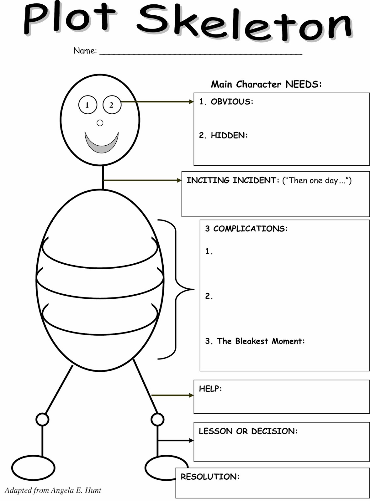 Character And Setting Graphic Organizer Second Grade