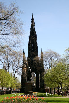 Scott Monument on Princess Street Edinburgh