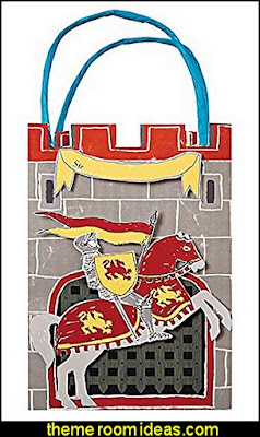 BRAVE KNIGHT Party Bags   medieval knights party props - castle theme party decorations - Medieval theme party decorating - Castle party props - princess party props - knight and princess costumes - Princess & Knight party ideas - Medieval wall decorating kit - harry potter party supplies - Medieval Birthday Party