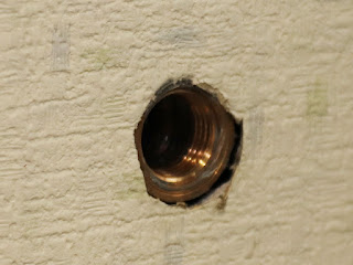 壁側の配管は思った以上に綺麗でした。