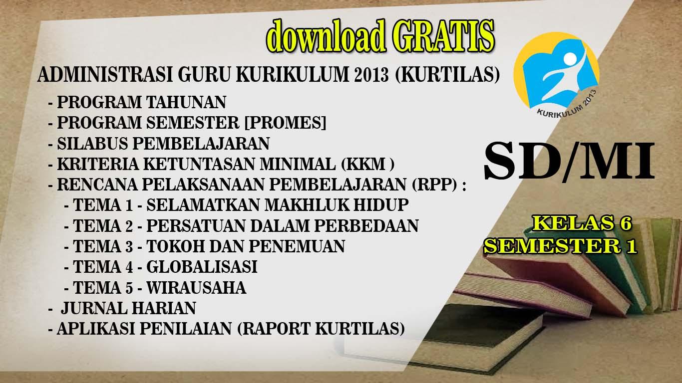 Download Lengkap Prota Promes Silabus Rpp Kkm Kelas 6 Semester 1 Kurtilas Revisi 2018