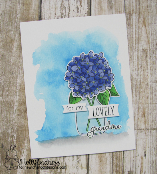 Flowers in Jar Card for Grandma by Holly Endress | Lovely Blooms Stamp Set by Newton's Nook Designs #newtonsnook