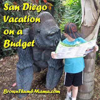 San Diego Vacation on a Budget: BrownThumbMama.com