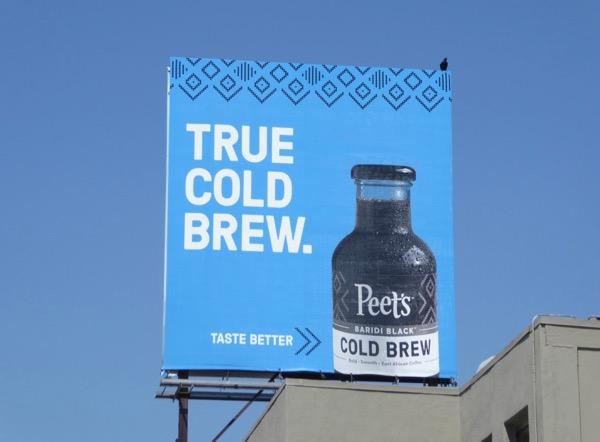 Peets Cold Brew bilboard