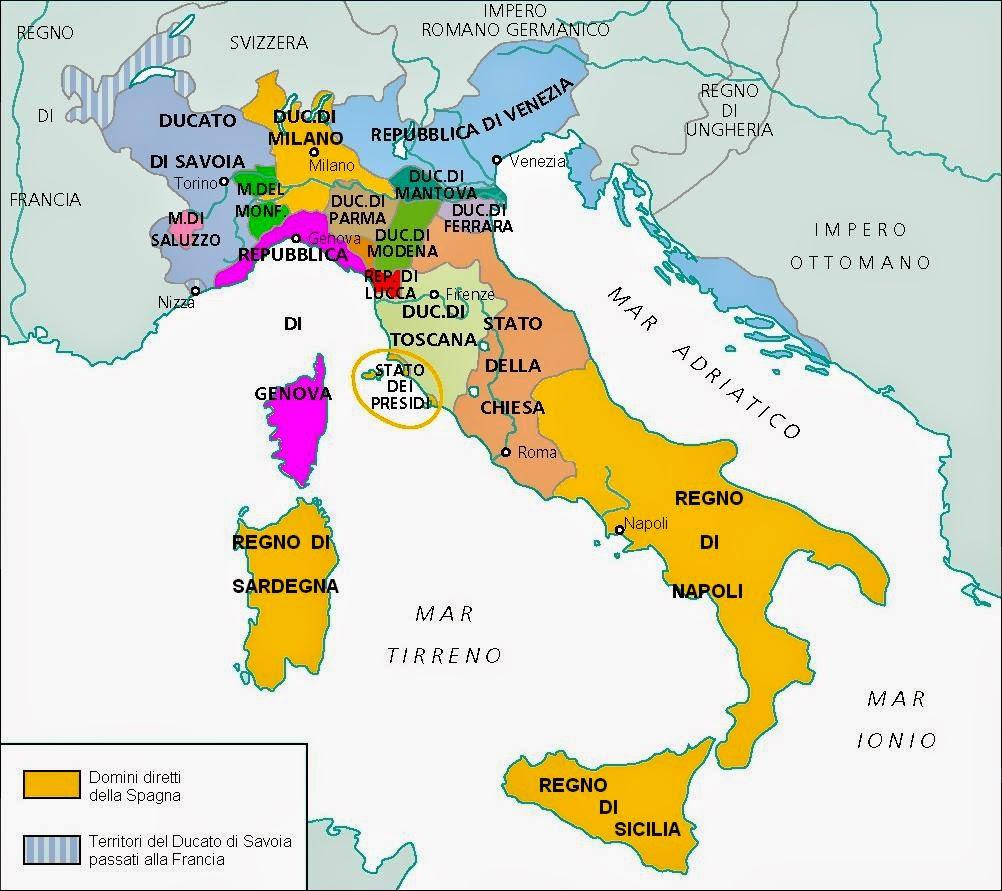 Risultati immagini per italia nel 1600