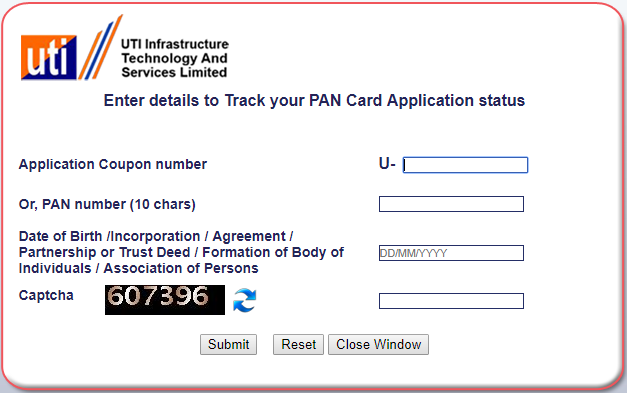 Check Your Pan Card Status, Check Pan Card Status