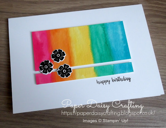 Rainbow beautiful bouquet from Stampin Up