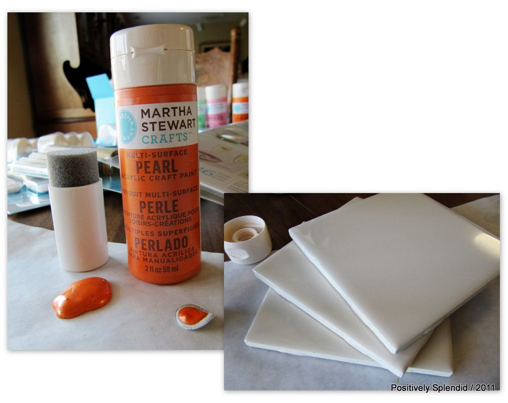 DIY Painted Ceramic Tile Tutorial - Positively Splendid {Crafts ...