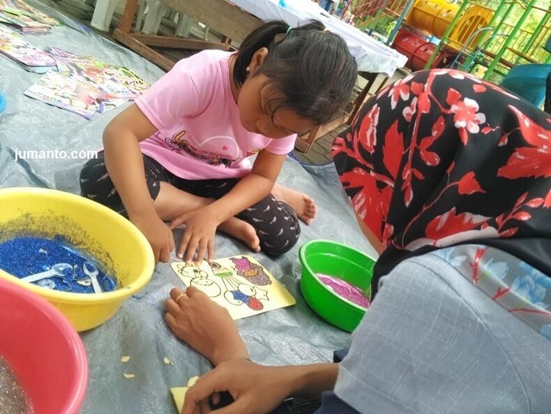 aktivitas wisata di kambang iwak park palembang minggu pagi