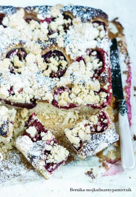 ciasto, sliwki, drozdzowe, drozdze, bernika, deser, kulinarny pamietnik