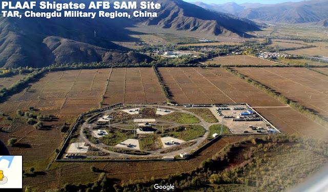 GEOINT | Analyzing PLAAF SAM Site at Shingste, TAR, China  by IndraStra