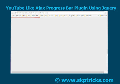 Page Loading Bar Using Jquery, Page Loading Bar Like Youtube, Simple jquery progress bar, Create Simple Progress bar using HTML, CSS with jquery, How to Make Loading Bar while Page Loads