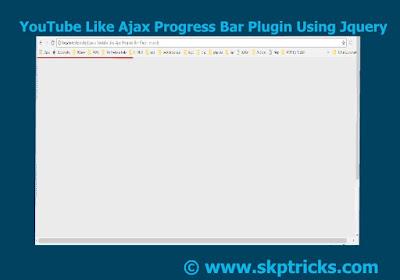 Page Loading Bar Using Jquery, Page Loading Bar Like Youtube, Simple jquery progress bar, Create Simple Progress bar using HTML, CSS with jquery, How to Make Loading Bar while Page Loads