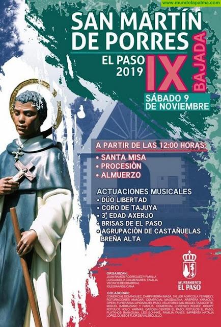 Festividad en honor a San Martín de Porres 2019 El Paso