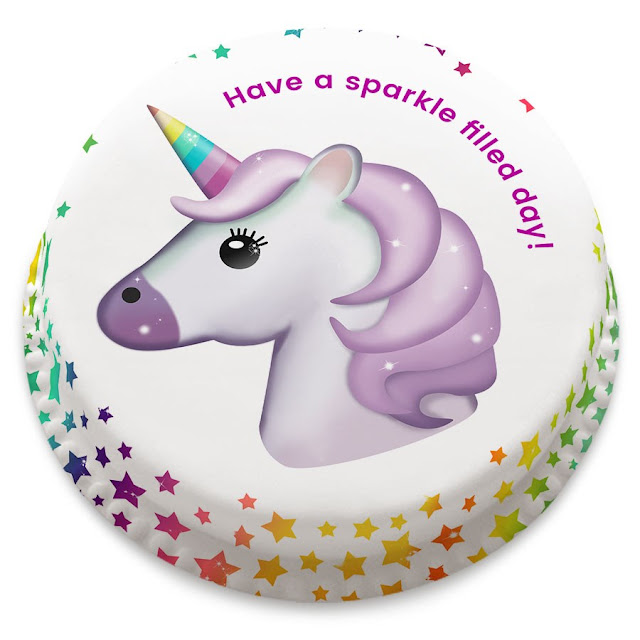 Bakerdays Unicorn Emoji cake