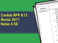 Contoh RPP K13 Revisi 2017 Kelas 4 SD