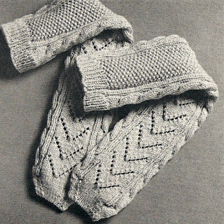 Knitted Aran Socks Pattern