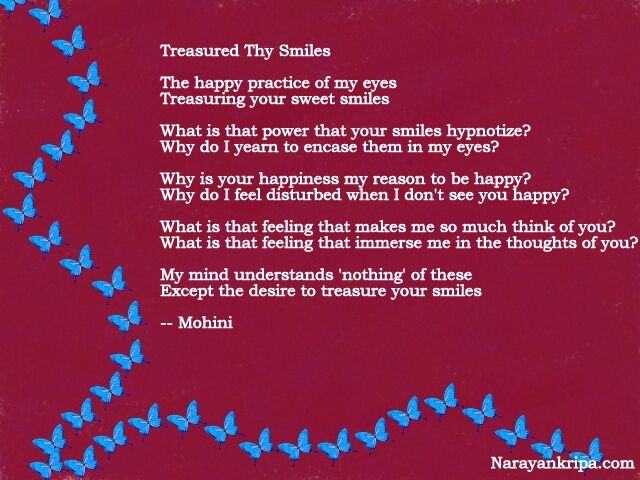 Text Image for Poem 'Treasured Thy Smiles'
