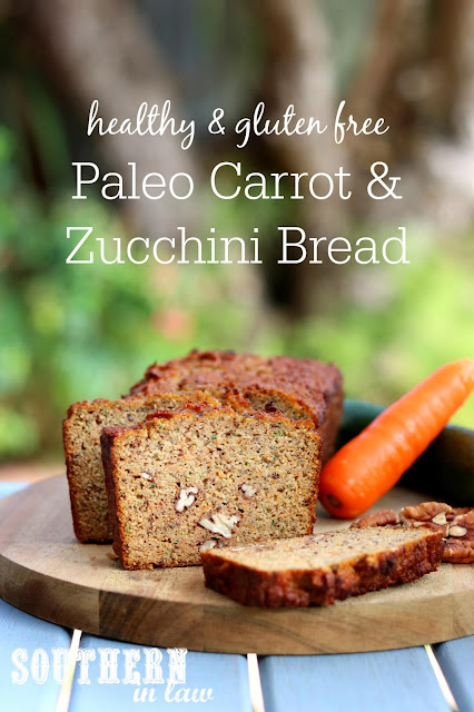 Healthy Paleo Carrot Zucchini Bread Recipe - low fat, gluten free, low sugar, refined sugar free, low carb, dairy free, grain free, paleo recipes