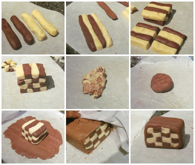 Eggless Pinwheel Cookies or checker board Cookies