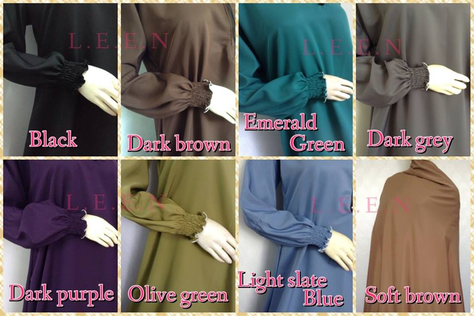 jubah abaya, abaya cantik, abaya murah, leen enterprise, pilihan warna abaya