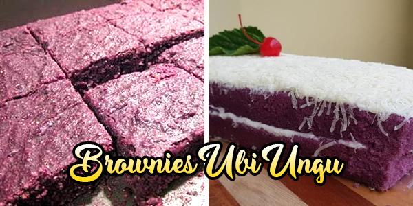 Brownies Ubi Ungu Manis dan Lembut